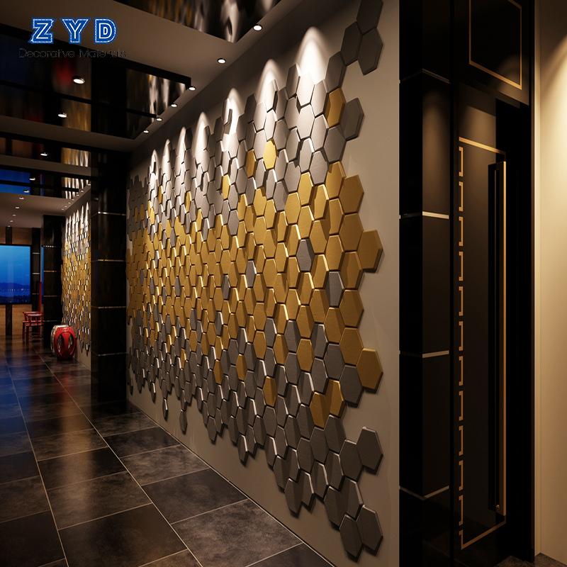 Gaya Baru 3D Desain Dinding Dekorasi Desain 3D Bata Busa PE Wallpaper/Dinding