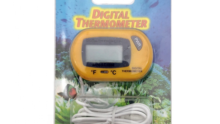 Fish Tank Water Terrarium  Digital Waterproof Aquarium Thermometer With Suction Cup