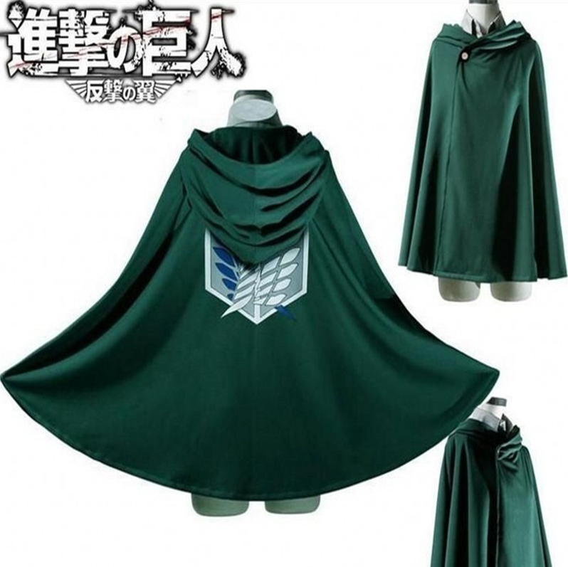 Manteau à capuche de Cosplay de l'anime PINYU Shingeki no Kyojin, Costume de l'anime cosplay, Cape verte, attaque sur Titan