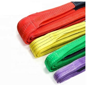 Customized safety lifting strap nylon polyester webbing sling