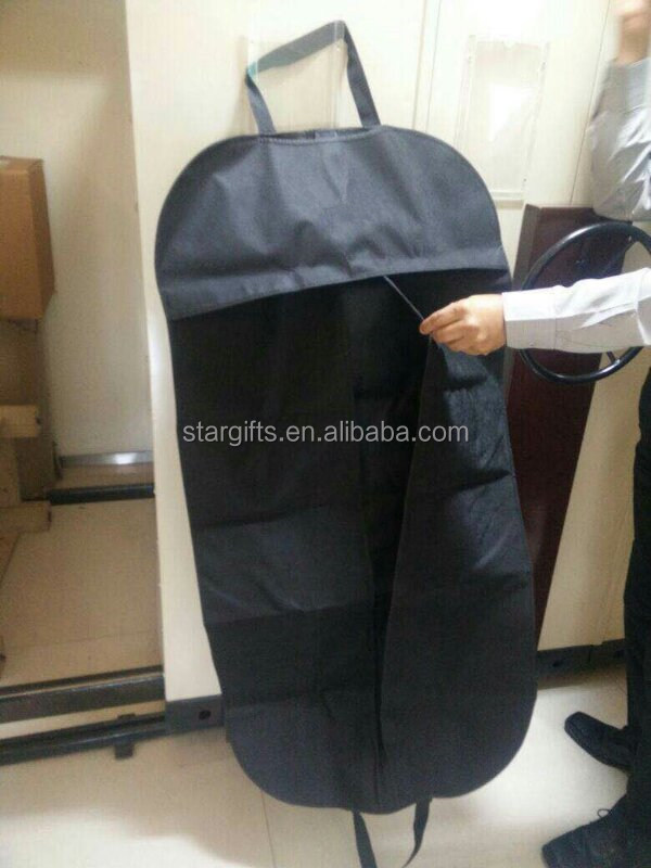Dust-proof Non-woven Custom Made Long Size Durable Reusable Hanging Suit Garment Cover Bag for Man Adult