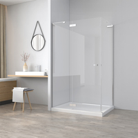Frameless Tempered Glass Square Shower Room