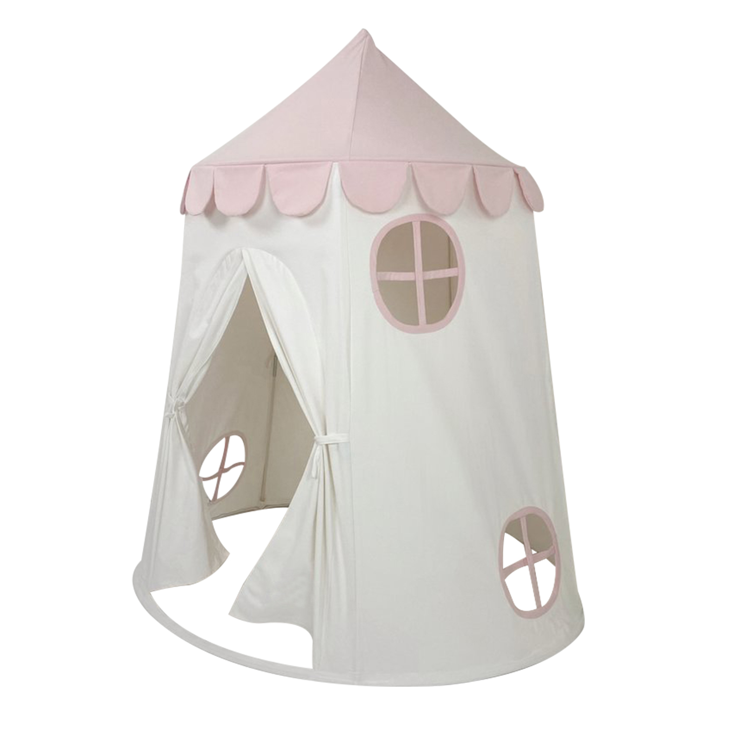wholesale Pink 100% Cotton Canvas Kids Boys Girls Tent Outdoor Teepee for kids