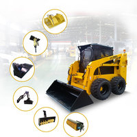 Chinese brand LTMG skid steer loaders 500kg 700kg 850kg 1050kg 1500kg skid loader with optional attachments for sale