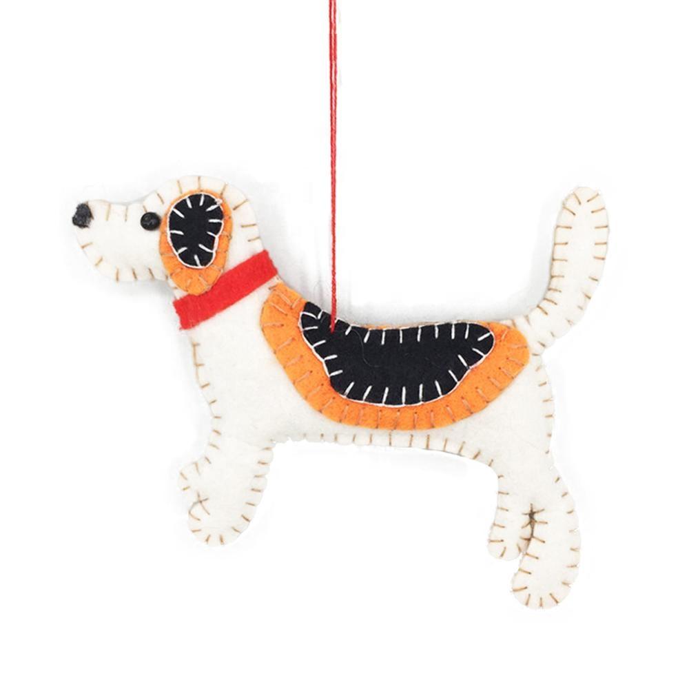 Wonderful Felt Dog Handmade Christmas Decorations