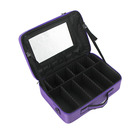Professional large make up Bag case Waterproof Detachable Makeup Organizer Toiletry Cosmetic Bag with mirror for Men Women