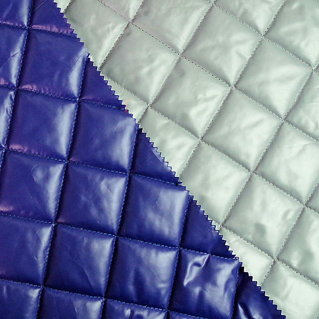 Polyester Padded Quilted fabric /Jacket Fabric/winter textile down jacket fabric