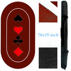 Texas Poker Table Casino Mat Texas Gambling Table Mat Casino Custom Poker Table Mat