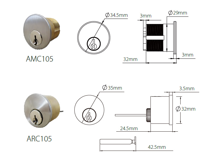 Master key euro lock cylinder with singe profile DIN18252 Standard-Related products