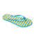 china factory Fashion ladies customised eva sole pvc upper blue yellow white stripe print flip flops and sandal