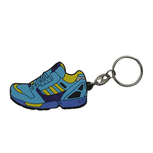 Free artwork no minimum custom logo souvenir 3d keychain shoes
