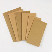 customizable brown kraft paper blank exercise notebook for school student