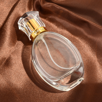 Luxurious 50ML Clear Mist Perfume Atomizer Perfume Glass Bottle