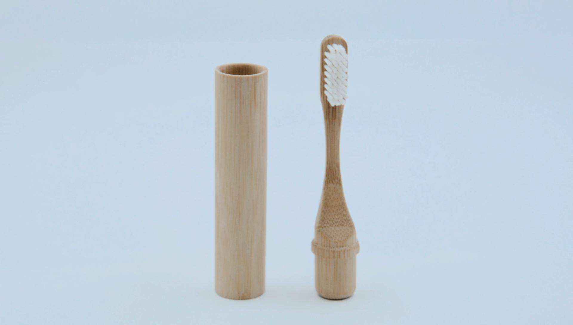 100% אורגני replecable מותג פרטי סיטונאי עץ 4 חבילה במבוק פחם מברשת שיניים