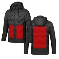 unisex safety rechargeable battery infrared intelligent heated winter warm coat