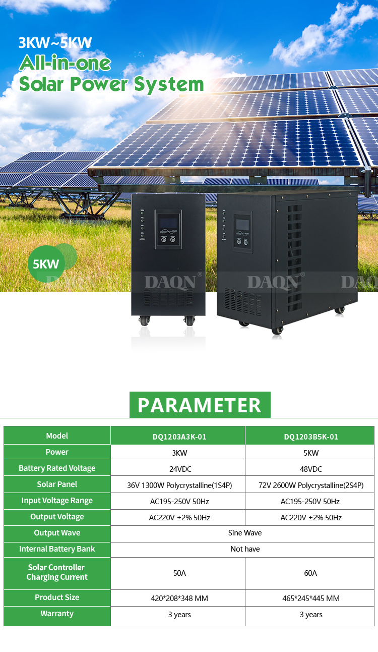 High Frequency Solar Inverter Pure wave Sine Wave 3kw 5kw Solar power System for Home Use