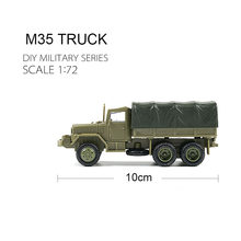 1:72 M35 грузовик, Детские колеса бронированные машины, комплект модели без резины, военный автомобиль, игрушки для детей, мальчик, дети, подаро...(Китай)