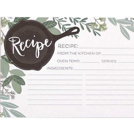 Customized Full Color Printed Art Paper Recipe Cards