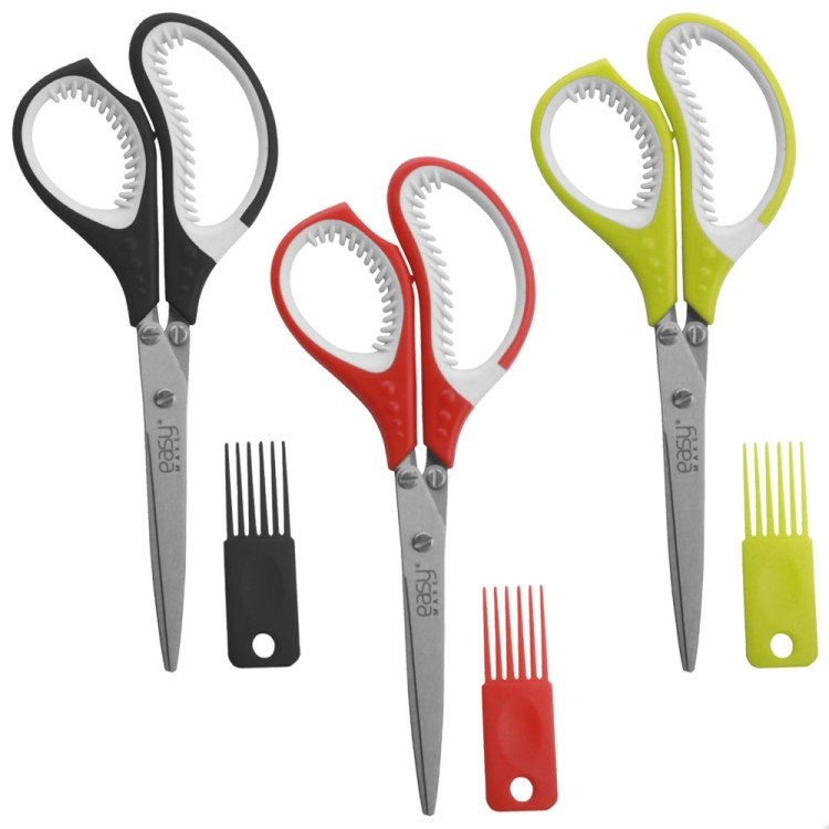 Professional Stainless Steel 5 Blades Kitchen tailor Scissors Herb Scissors With Comb