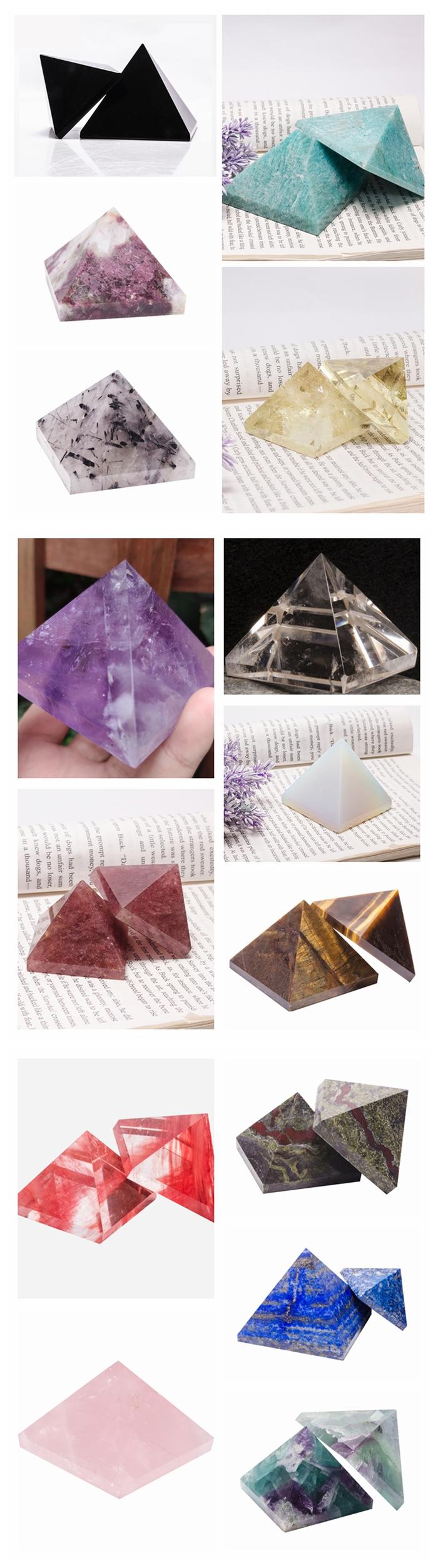 हीलिंग रेकी शीर्ष गुणवत्ता पॉलिश क्रिस्टल क्वार्ट्ज लाल टूमलाइन पिरामिड