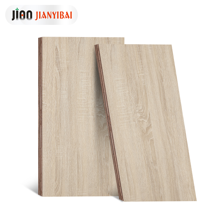 J100 E1 prefinished birch madeira compensada a partir de china 9mm bege carvalho folheado de madeira para a cama
