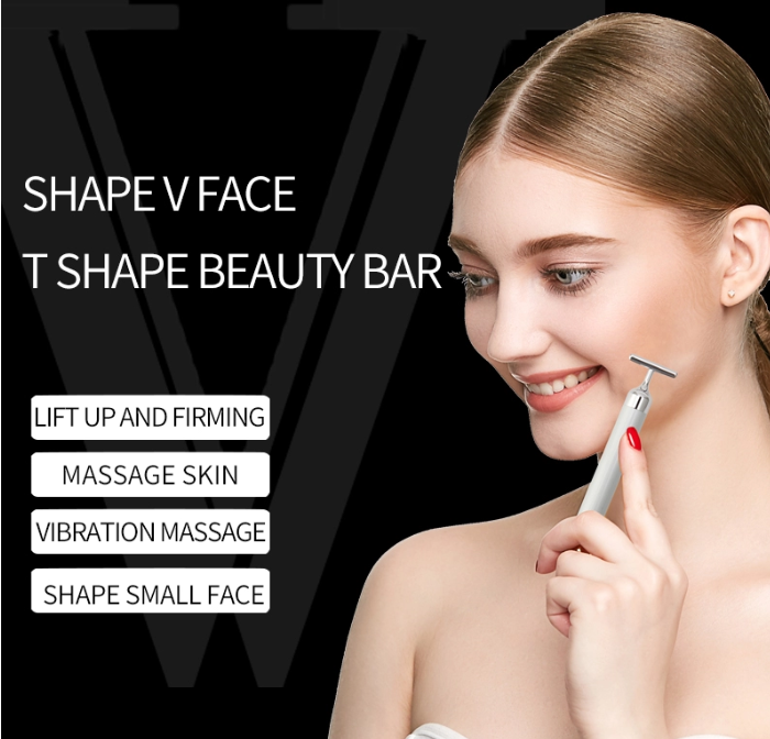Private Label T shape Energy beauty face massage roller