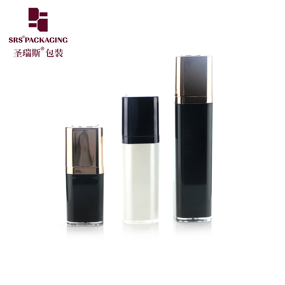 factory manufacturer 15ml 30ml 50ml empty cosmetic lotion square airless pump bottle