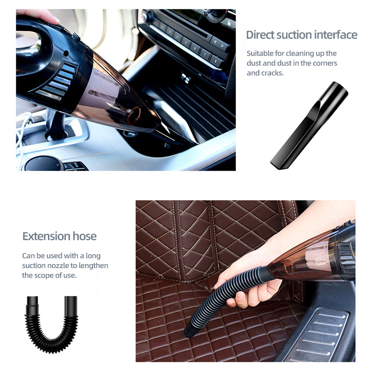Good quality 12V DC mini portable wet dry portable handheld steam powerful car vacuum cleaner