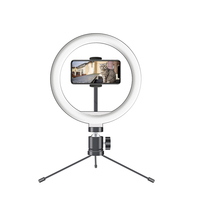 2020 new design selfie ring light with tripod stand for smartphone