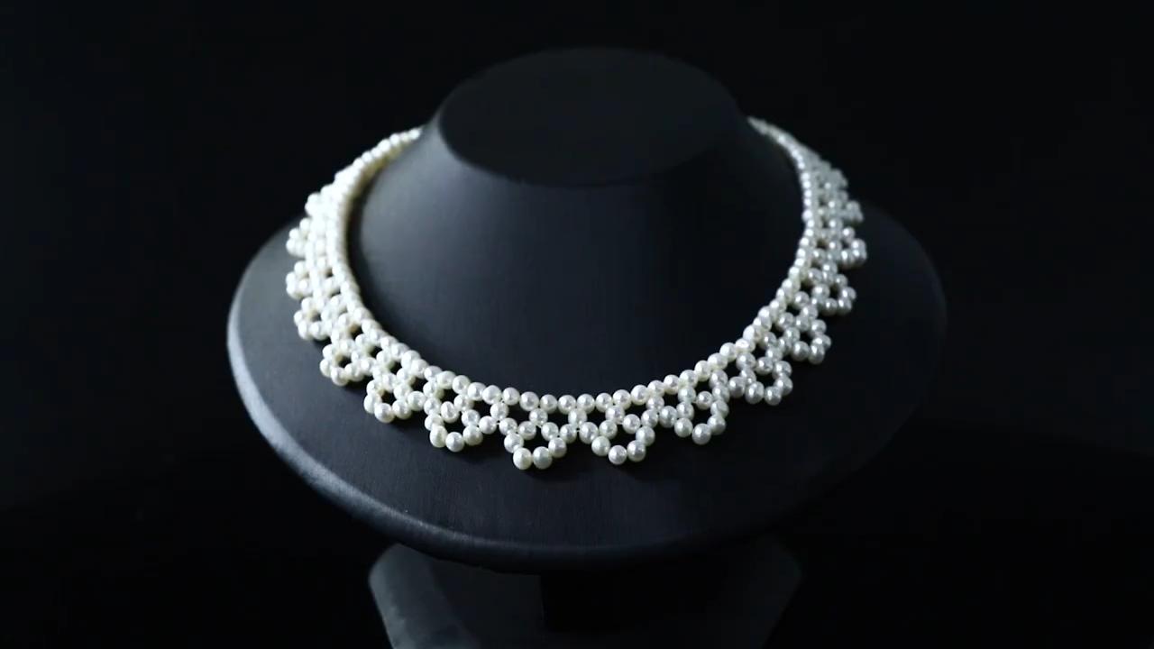 أزياء خمر الطبيعية مثقف المياه العذبة لؤلؤة سلسلة اللؤلؤ الحقيقي قلادة مجوهرات للنساء هدية