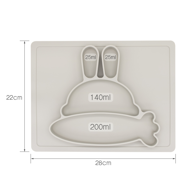 Wholesale FDA/LFGB Certified Funny Babies Feeding Plates Silicone Baby Suction Plate