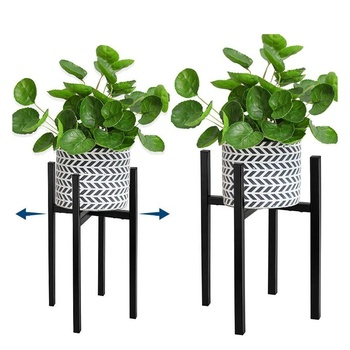 Adjustable Plant Stand Holder Rack Planter Mid Century Wrought Iron Modern Indoor Flower Pots Adjustable Metal Plant Stand