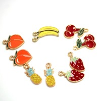 customized cute fruit jewelry charms metal charms for bracelets earrings necklaces