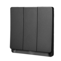 DELIXI UK standard Grey 86*86mm 3 gang 1 way 10A 250V light electric wall switch for home