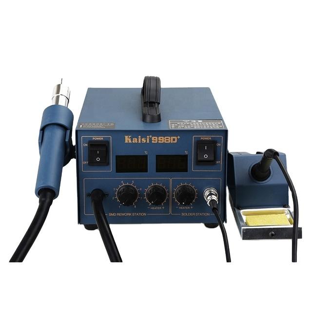 2 in 1 Soldering Iron Station Hot Air Gun Reworking Welding Station Kaisi 8586
