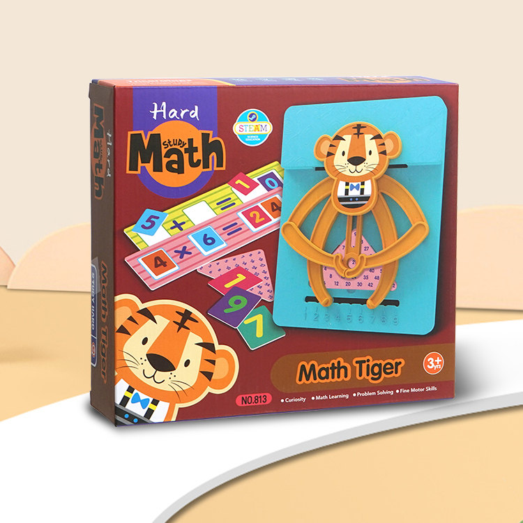 2020 Educational toys Memory training game of little tiger puzzle/memory training game arithmetic with unique shapes