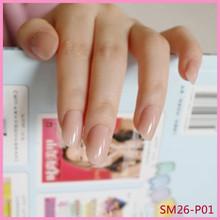 Красный квадрат искусственный Ongles суд Искусственный пластик Im нажмите на ногти Короткие поддельные ногти с клеем, стикер Kunstnagels(Китай)