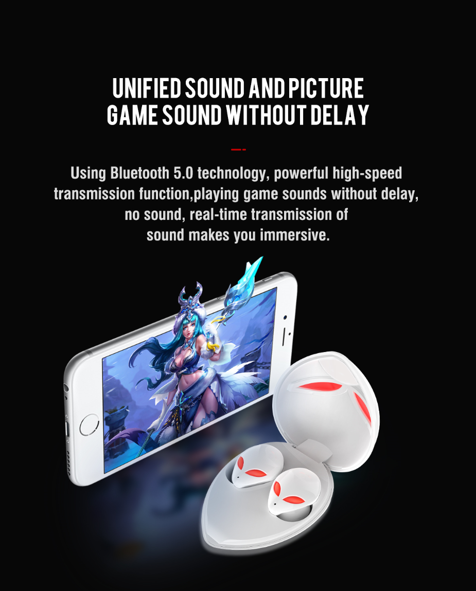 2021 trending products fashionable alien bluetooth tws earphones support wireless plug