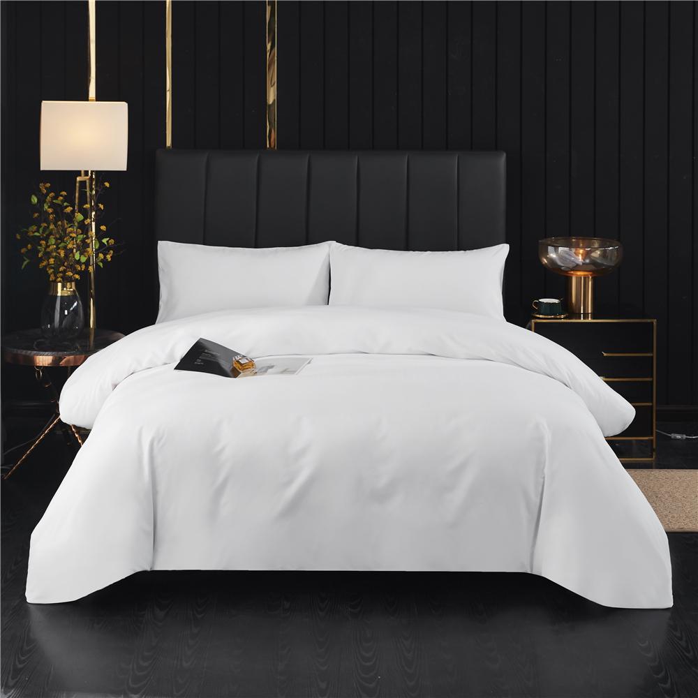 3pcs White Bed Sheet Set Printed Duvet Cover Sheets Quilt Bedding Set