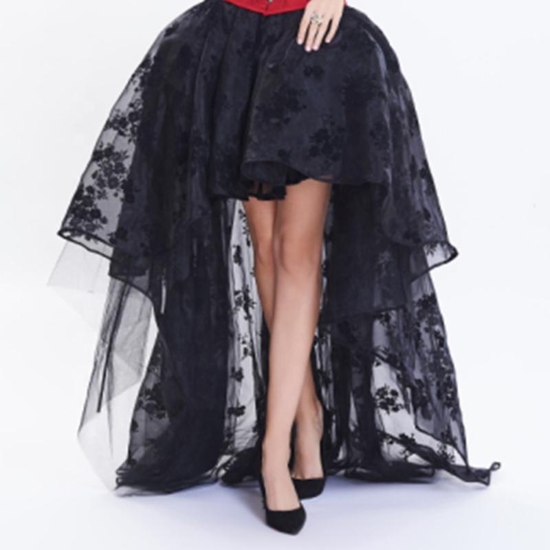 PUNK กระโปรงภาพ Maxi ล่าสุดออกแบบจีบชุดแต่งงานชุดเจ้าสาวเซ็กซี่ 2020 ด้านหน้าสั้นและยาวกลับกระโปรง