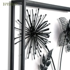 Metal Leaf Decor Metal Metal Wall Art Decor IVY 3d Black Metal Flower Branch Leaf Wall Art Hangings Home Decor