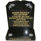 Stone slab headstones China black tombstone funeral granite monument