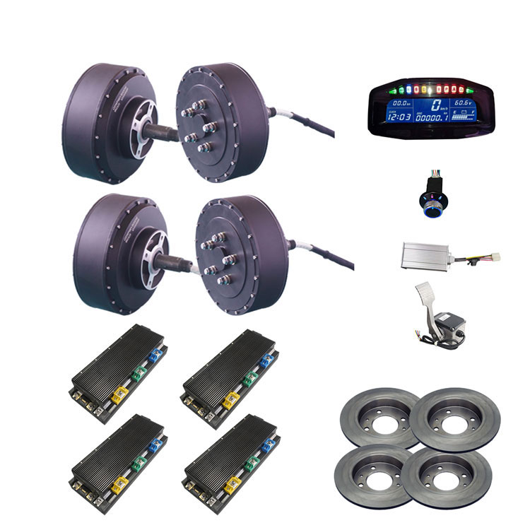 QS Motor 273 8000w 4WD  BLDC electric car hub motor conversion kits with APT96600 motor controller