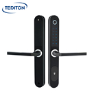 Aluminum Electric Fingerprint Biometric Sliding Wooden Door Lock Slide Door Handle Hook Smart Door Lock