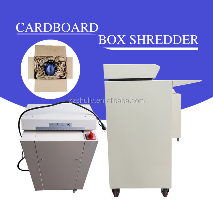 Hot selling carton box cutting machinecardboardshredderwaste carton recycling machine