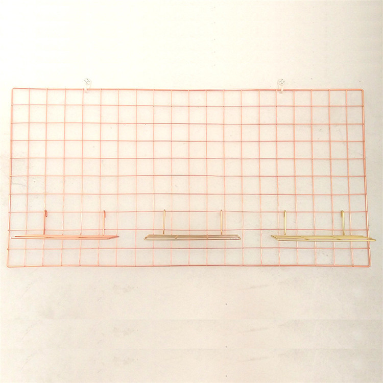 Wire wall grid panel home decorative gold metal grid metal display grid panels MP-51