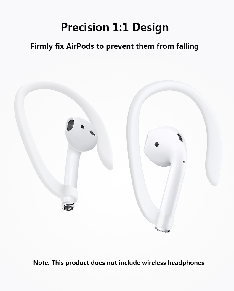 Protective Silicone Anti-lost Holder Secure Fit Hooks Ear Hook Earhooks for Airpods Apple Wireless Earphone