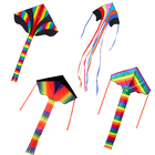 Factory Outlet Reusable Fashion easy flying delta sport rainbow rc led kite for kids
