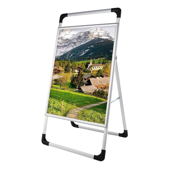 Message Boards A-Board Pavement Sign Double Sided portable Waterproof Aluminum Alloy Poster Holder