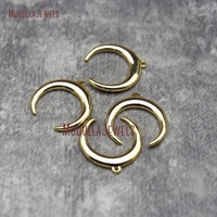 PM27751 18k Gold Filled Double Horn Pendant Gold Crescent Charm Moon Pendant 15mm